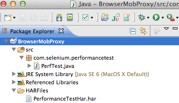 Performance data collection using BrowserMob Proxy and Selenium