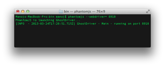 Getting Started with GhostDriver & PhantomJs – Assert Selenium